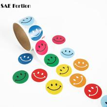 SAE Fortion 100pcs/set Classic Toys Smile Sticker Smiley Face Self-Adhesive Paper Label for School Teacher Rewards Kids SC0566(China)
