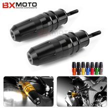 2 Pcs Motorcycle Crash Pads Exhaust Sliders Crash Protector For Kawasaki Z1000 Z1000sx 2013-2017 Black Motorcycle Accessories