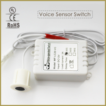 Sound Voice Control 12V 3A Led sensor switch Module intelligent induction for corridor kitchen cabinet led light detector