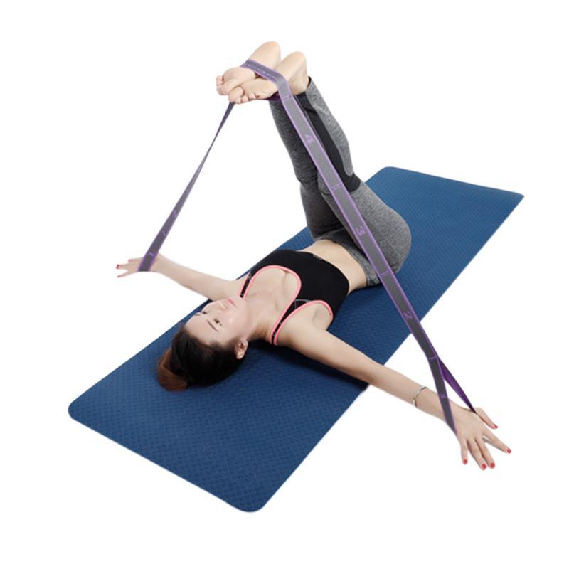 Benradise Bande Yoga Resistance Sangle Elastique Adultes Latine Pilates Danse Gym Fitness Sangle dExercices dEntra/înement 245 3,8 cm Coton Polyester Supporter Un Poids de 82kg