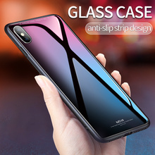 Msvii for iPhone X Glass Case for iPhone X Coque Silicone Shock Proof Luxury Slim Tempered Glass Cover for iphonex back(China)
