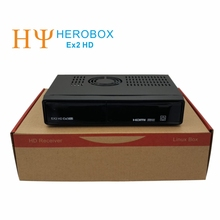 Genuine HEROBOX EX2 HD DVB-S2 Satellite Receiver  HD Linux Enigma2 S BCM7362  Dual processor 512MB DDR3 Free Shipping