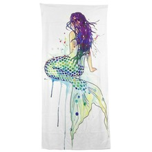 Modern Design Polyester Beach Bath Towel Funny Beautiful Turned the mermaid back 27 x 54 Inch Face towel Hand towel(China)