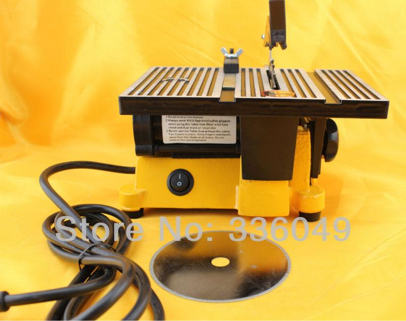 110-120v 90w Mini Table Saw/Mini Bench Saw 1pc alloy blade 1pc diamond blade cuts stone wood copper aluminium lead<br><br>Aliexpress