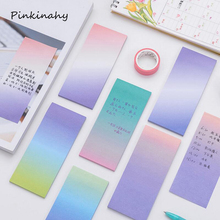 Colorful Simple Gradient Color Self-Adhesive N Times Indexes Memo Pad Sticky Notes Post It Weekly Planner School Office Supply(China)
