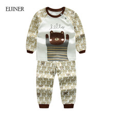 Animals Baby Boy Clothes Autumn 2017 New Kids Clothes for Boys Long Sleeve Baby Girls Clothing Set Cotton Children Clothes Set(China)