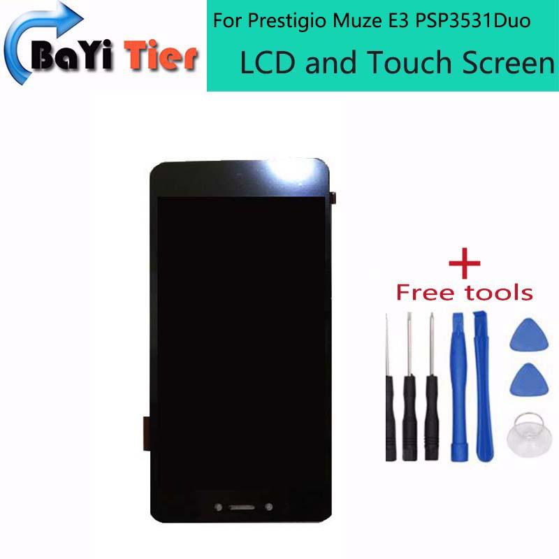 100% For Prestigio Muze E3 PSP3531Duo PSP3531 Muze D3 psp3530  LCD display touch screen Sensor + Tools Digitizer Replacement <br><br>Aliexpress