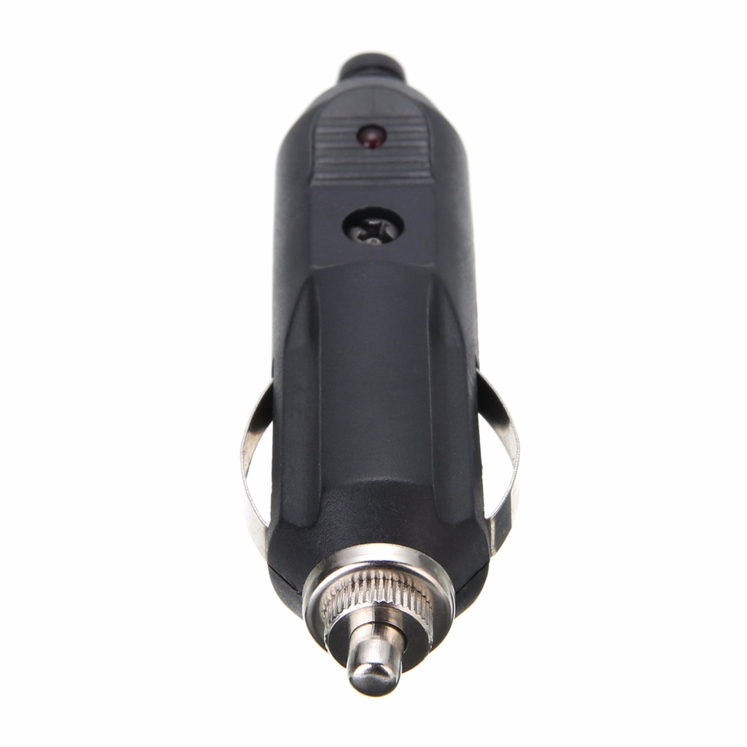 Hot Sale 12V 24V Car Auto LED Male Cigarette Lighter Socket Plug Adapter Charger with 5A Fuse Red LED Connector