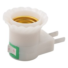 1X E27 Light Socket To US Plug Holder Adapter Converter ON/OFF For Bulb Lamp Lampholders(China)