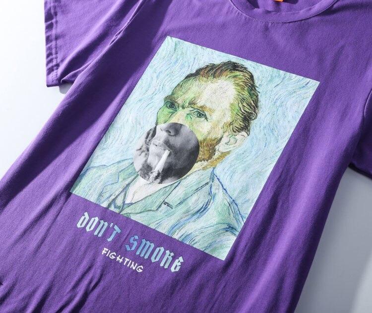 Funny Smoking Van Gogh Tshirts 5