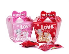 Wedding party lovely bear style gifts packing, Favor honey Candy Boxes ,paper chocolate packaging, 200pcs/lot  ,Free shipping