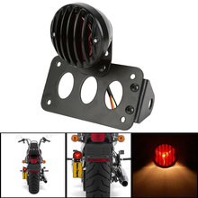 1set Brand New Motorcycle Light Vertical Side Mount License Plate Tail Light Bracket for Harley Bobber Chopper Moto Styling(China)