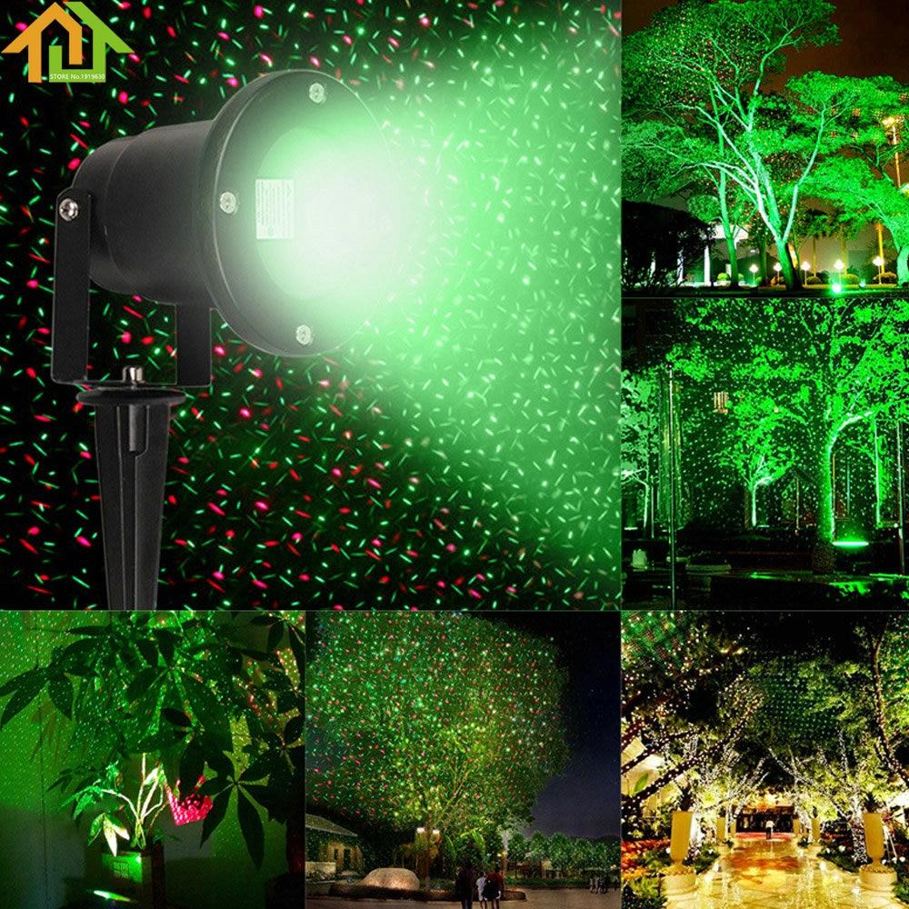 Waterproof Garden Tree Moving Laser Projector LED Stage Light Sparkling Landscape Lights for Outdoor Decorations<br>