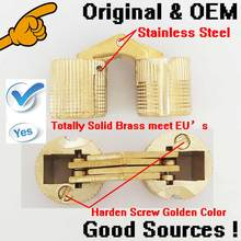 500PCS/LOT 12MM hinge German Quality high grade 180 invisible brass concealed hinges(China)