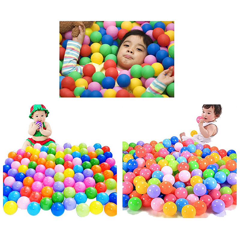 100Pcs Colorful Ball Ocean Balls Soft Plastic Ocean Ball Baby Kid Swim Pit Toy High Quality 88 M09(China (Mainland))