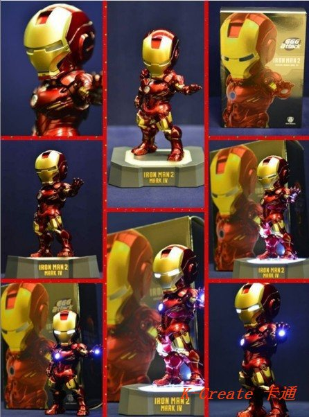 Free shipping newest 18pcs avengers Iron man hand chest on led light pvc figure toy tall 16cm .Plate surface perfect doll choose<br><br>Aliexpress