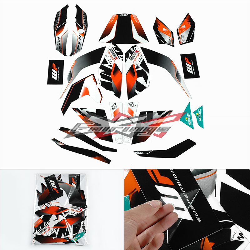 FREE SHIPPING Full Custom Decals Graphics Stickers Vinyl Set FIT For KTM DUKE 125 200 390<br><br>Aliexpress
