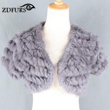 ZDFURS * Autumn and winter fur vest  rabbit fur knitted  waistcoat outerwear cardigan short design gilet free shipping
