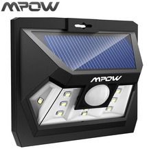 Mpow Mini 10 LED Solar Power Panel Light Motion Sensor Outdoor Wall Fence Garden Pathway LED Night Lampion Lighting Wide Range