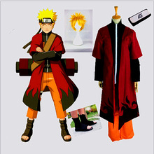 2017 free custom cosplay costume naruto naruto clothes because the second generation of animation cartoon costume(China)