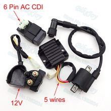 Ignition Coil & AC CDI & Regulator Rectifier & Relay Kit For Chinese 150 cc 200 cc 250 cc ATV Quad