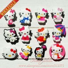 Hot selling!!!100pcs/lot  fashion Hello Kitty 007-1 PVC shoe charms best gift for kids,girls all love them!