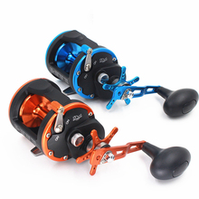 3BB+1RB 5.1:1 6.2:1 Plastic Body Fishing Drum Reel Aluminum Wire Cup Bait Casting Carp High Speed Baitcasting Pesca Lure Reel AC(China)
