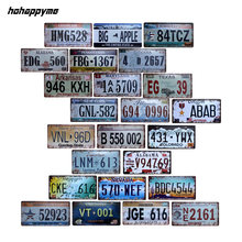 hohappyme American Car Plates Number USA License Plate Garage Plaque Metal Tin Sign Bar Decoration Vintage Home Decor 15x30cm(China)