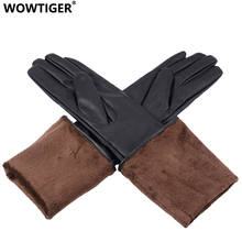 WOWTIGER Gloves New PU Fashion Long Women Gloves Warm Outdoors Luxury Design Sexy 50cm Gloves(China)