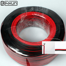 20 meters Electrical Wire Tinned Copper 2 Pin insulated PVC Extension LED Strip Cable Red Black Wire Electric Extend Cord