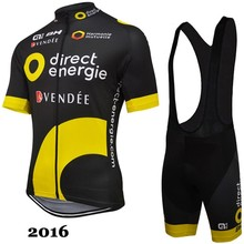 Direct energie BH ALE 2016 short sleeve cycling jersey bib shorts shirt set clothes sport jersey MTB bike ropa ciclismo(China)