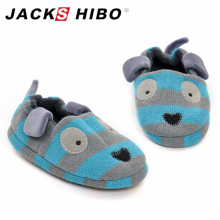 Buy JACKSHIBO Cute Cartoon Kid Indoor Shoes Kids Warm Cotton Slippers Home Shoes Children Solid Color Home Floor Child Soft Slippers for $5.07 in AliExpress store