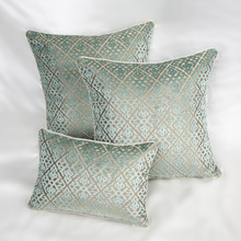 "Europe 45"" 60"" Flocking Pillow luxury/Plaid/Elegant/Flower/Home/Sofa/Car Cushion /Pillows (not including filling)(China)"