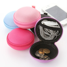 Portable headset storage bag, anti-pressure package earphone headset headphone bag box data cable package(China)