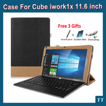 High quality case for Cube iwork1X Fashion PU Leather Case Stand for cube i30 Z8350 iwork 1x case+free 3 gifts