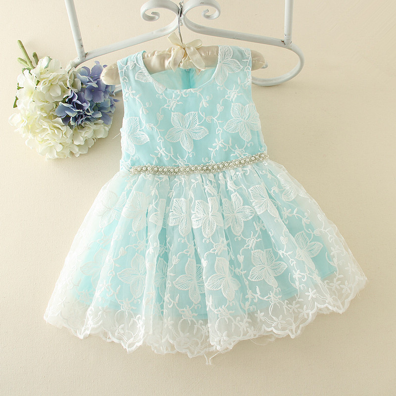 2017 New High Quality Luxury Summer Baby Girls Princess Dresses  Kids Embroidery Lace Dress Summer Party Sleeveless Dress  <br><br>Aliexpress