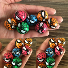5 pcs/lot Spiderman Bouncing Ball Soft Rubber Jumping Ball High Quality Cartoon Figure Small Elastic Ball Kid Outdoor Toy
