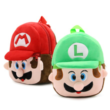 Super Mario mini school bag plush Backpacks toys for children kindergarten school boys girls baby students bags Mochila for kids