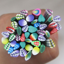 Colorful 3d Fimo Nail Art Leaf Canes New Arrival Beauty Fashion Nail Decorations DIY F004