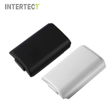 AA Battery Cover Door For Xbox 360 Wireless Controller Black White Color Back Case Shell Pack Kit For Xbox360 Gamepad Joystick