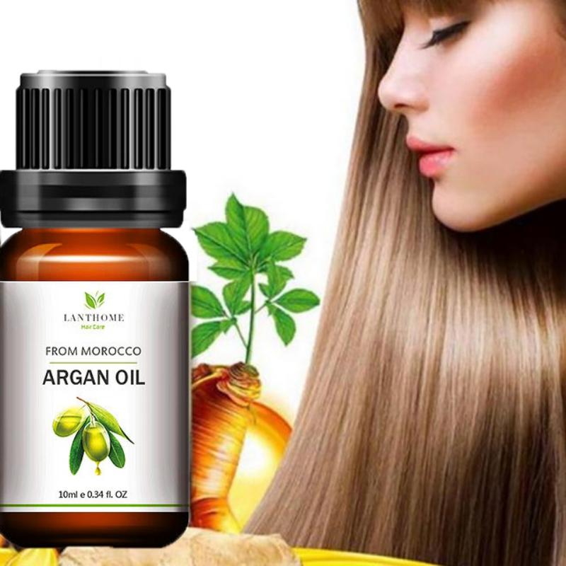 Genuine Morocco Argan Oil Hair Care Keratin 100% PURE Glycerol Nut Oil Hair Oil Mask Essential Coconut Oil Cuticle 10ml 5