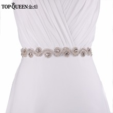 TOPQUEEN S10 Free shipping cheap Wedding Dress Belt  Crystal Rhinestone Bridal Sash  Wedding Dress Accessories