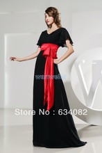 free shipping brides maid 2016 red new designer bag bow plus size gown designer couture evening gowns formal black evening dress