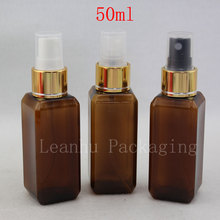50ml X 50 Brown Perfume Mist Spray Bottle, Makeup setting spray Pump Cosmetic Container  Perfumes and Fragrances For Women Empty