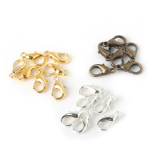 Free Shipping 14mm 100pcs/lot Alloy Lobster clasp Hooks for necklace&bracelet chain DIY jewelry findings FKA022-03