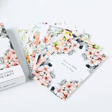 "28 pcs/box elegant ""bloom flowers "" creative small cards greeting card postcards message card holiday universal Free shipping"