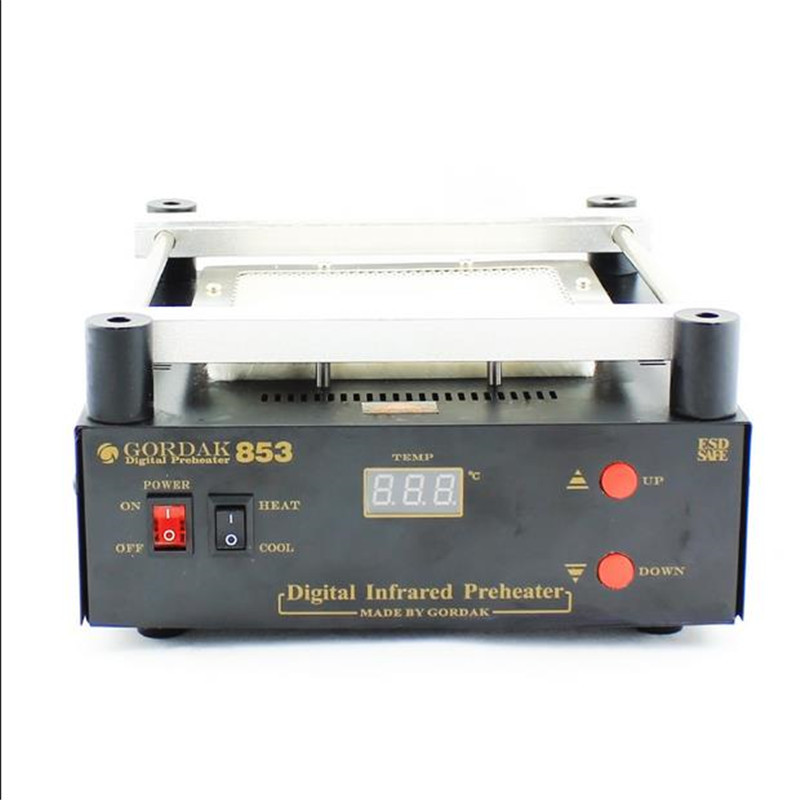 GORDAK 853 High power ESD BGA rework station PCB preheat and desoldering IR preheating station 605W  120x120mm<br><br>Aliexpress
