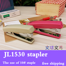 Wen Ni High Quality 3 Colors 10# Metal Standard Stapler With Staples School Office Binding Supplies1530 free shipping(China)