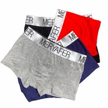 4pcs Fashion men Cotton underwear boxers highquality knickers calvin Men's Boxer Shorts Sexy Male Underwear Men Cuecas Masculina(China)