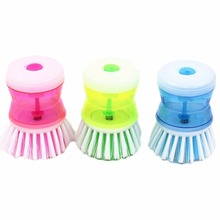 New Kitchen Gadgets Pan Pot Dish Cleaning Brush Wash Tool With Detergent Storage